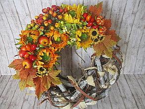 Dekorácie - Jesenný veniec - 13592274_