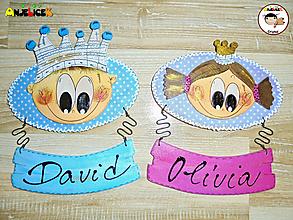 Tabuľky - Menovka - princ a princezná - 13592386_