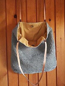Veľké tašky - šalviová - 13594055_
