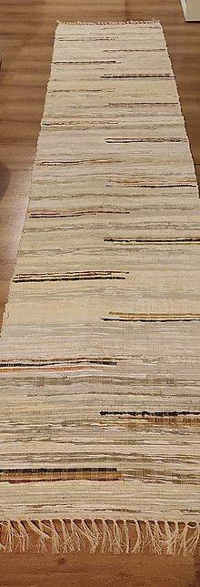 Úžitkový textil - tkaný koberec 80x 350 cm okrovy - 13594558_