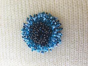 Brošne - modrá astra - 13594952_