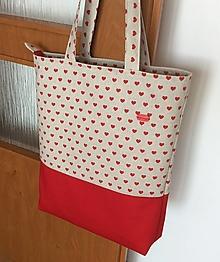 Nákupné tašky - taška srdiečková - 13595386_