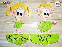 Tabuľky - Menovka - WC + kúpeľňa - 13595835_