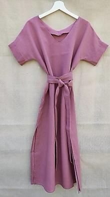 Šaty - Ľanové šaty 2v1 - 13595425_