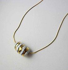 Náhrdelníky - Tana šperky - keramika/zlato - 13594966_