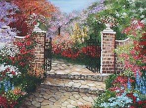 Obrazy - Tajomné záhrady - 13595990_