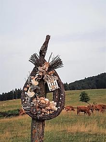 Dekorácie - Jarná dekorácia z brezového prútia s vtáčikmi - 13596828_