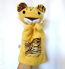 Hračky - Maňuška tiger (so žltým kožúškom) - 13596202_