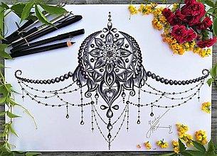 Iné doplnky - MANDALA tetovanie,originálny návrh,tvorba na mieru - 13596505_