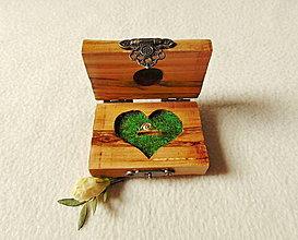 Krabičky - Drevená krabička na prsteň - 13597103_