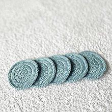 """Úžitkový textil - EKO odličovacie tampóny  """" svetlo modré """" - sada 5 ks - 13596875_"""