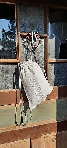Batohy - BackPack/Batoh/Vak dvojvrstvový - ručne tkaný ľanový PRE ŇU - 13597347_
