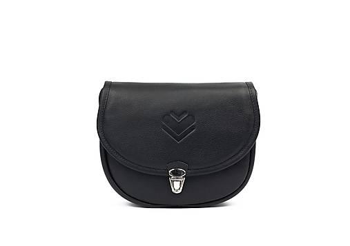 Kabelky - Kožená kabelka mini K - černá - 13598490_