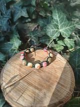 Náramky - 🐚Boho Shamballa náramok z polodrahokamov 🦋 - 13596457_