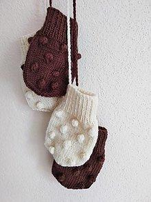 Detské doplnky - Rukavičky s guličkami 100% Baby merino - 13597254_
