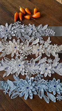 Bielizeň/Plavky - Svadobný podväzok - kamienok kráľovská modrá - 13598908_