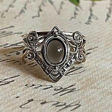 Prstene - Elvian Mystic Grey Moonstone Vintage Ring / Elfský mystický prsteň so šeedým mesačným kameňom - 13600860_