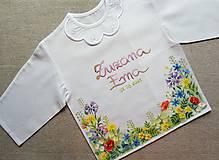 Detské oblečenie - Letná lúka- košieľka na krst - 13601192_