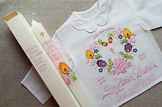 Detské oblečenie - Set do krstu slovensko-japonský - 13601159_