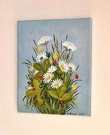 Obrazy - Maľovaný obraz - Letná kytička - 13600120_