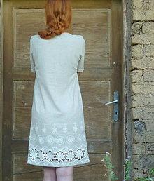 Šaty - Šaty z ľanu - 13599223_