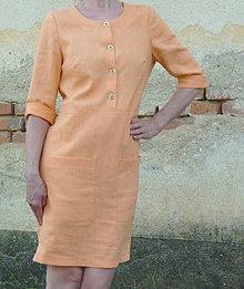Šaty - Ľanové šaty - 13600269_