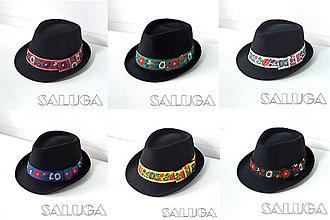 Čiapky - Folklórny klobúk - čierny - ľudový klobúk - č.56 - 13599881_