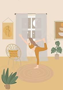 """Grafika - Ilustrácia """" Hygge Yoga"""" - 13600233_"""