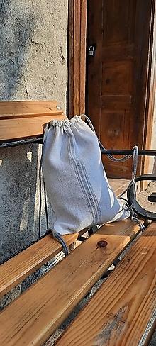 Batohy - BackPack/Batoh/Vak dvojvrstvový - ručne tkaný ľanový PRE NEHO AJ PRE ŇU - 13599481_
