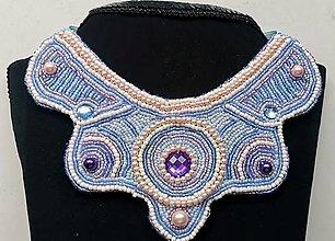 Náhrdelníky - Modrý náhrdelník Blue Princess - 13601160_