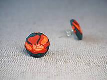Náušnice - Poppies - 13601299_