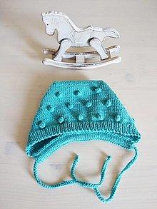 Detské čiapky - Guľôčková čiapočka 100% Baby merino - 13599145_