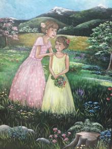 Obrazy - Milované sestry - 13599372_
