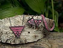 Sady šperkov - Sada šperkov Rúžový triangel - 13601096_