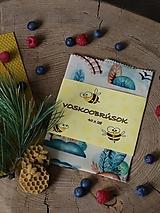 Úžitkový textil - Voskobrúsok 40cm x 28cm vláčik - 13602354_