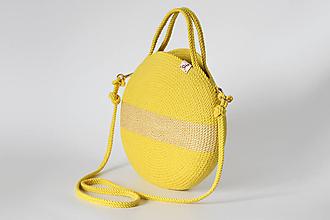Kabelky - Provazová kabelka žlutá - 13601694_