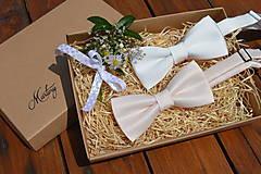 Doplnky - Pánsky svadobný motýlik - 13601612_