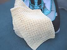 Textil - Detská háčkovaná deka do kočíka, postieľky - 13602375_
