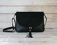 Kabelky - Čierna kabelka PETRA - 13602933_