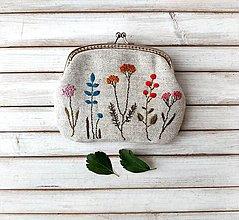 Peňaženky - Peňaženka XL Farebný herbár (s kapsičkami) - 13602726_