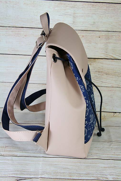 Modrotlačový batoh Matej ružový 1