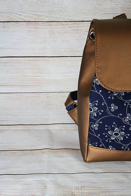 Modrotlačový batoh Matej metalický medený 1
