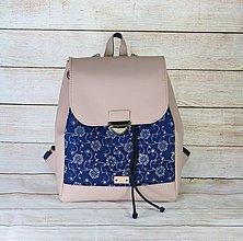 Batohy - Modrotlačový batoh Matej ružový 1 - 13602909_