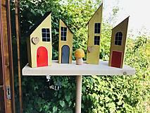 Dekorácie - Drevené domčeky - zápich - 13602361_