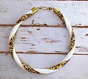 Náhrdelníky - Háčkovaný náhrdelník - 13602404_