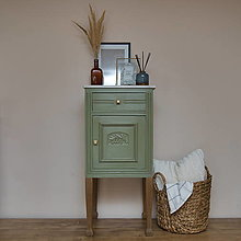 Nábytok - Stolík Marble & wood - 13601438_