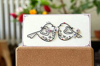 Dekorácie - svadobná pohľadnica - 13602378_