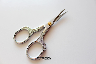 Nástroje - Vintage nožnice strieborné - 13604499_