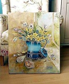 Obrazy - Jarné kvietky zo záhradky - 13604636_