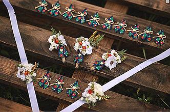 Ozdoby do vlasov - Svadobný set - pierko pre ženícha a hostí - 13606953_